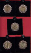 Francia 2 euro 2000 a 2004-Lot corso monete Banca freschi
