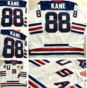 2010 Patrick Kane #88 Team USA  Ice Hockey Jersey Stitched White S-4XL