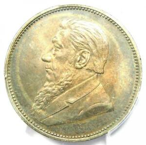 1896 South Africa Zar 2 Shillings (2S) - PCGS MS62 - Rare BU MS Certified Coin