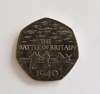 75th Anniversary of the Battle of Britain 50p circulated coin