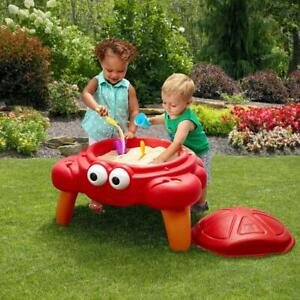 Crabbie Sand Table With Cover And 4 Piece Accessory Set Outdoor Kids Sandboox