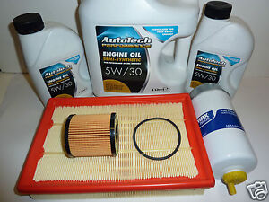Transit MK7  Service Kit With Motor Oil 2.4 2006-2011  Air,Oil,Fuel & sump plug