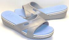 CROCS Cross Strap Slide Wedge Sandals Women's US Shoe Size 10M NEW