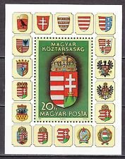 HUNGARY 1990 **MNH SC# 3254 S/S   New Coat of Arms