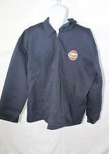 Large Work Mechanics Jacket with Gulf Logo - Vintage/Retro Gasoline
