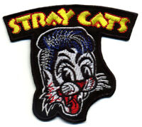 Stray Cats Patch Badge retro rockabilly hot rod iron on greaser jacket vest