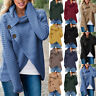 Womens Long Sleeve Button Knitted Sweater Jumper Cardigan Knitwear Outwear Tops