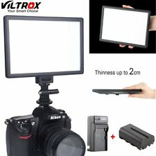 Viltrox L116T Bi-Color Dimmable Slim Video LED Light+Battery+Charger for Camera