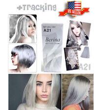 Hair Dye Light Grey Silver Color Cream Permanent Long Stylish Pro Salon A21 US