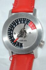 "Akteo ""Rare"" French Moto Racer Silver Watch Speedometer Dial & Racer Second"