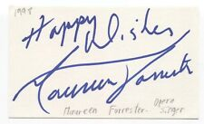 Maureen Forrester Signed 3x5 Index Card Autographed Signature Opera Singer