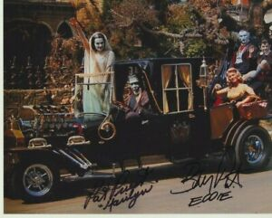 """Pat Priest and Butch Patrick signed 10"""" x 8"""" photograph - The Munsters - P102"""