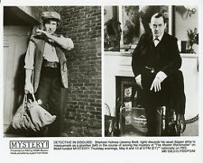JEREMY BRETT AS SHERLOCK HOLMES THE MASTER BLACKMAILER ORIGINAL '88 PBS TV PHOTO