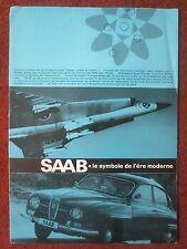 1965 DEPLIANT LEAFLET SAAB SWEDEN DRAKEN VIGGEN 105 SAAB BERLINE SPORT BREAK