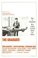 The Graduate movie poster  : 11 x 17 inches : Dustin Hoffman, Anne Bancroft