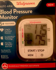 Walgreens Auto Arm Blood Pressure Monitor 5 Plus Features Accurate 899709 NEW