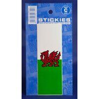 Welsh Dragon No Plate Sticker - Number Castle Promotions V400