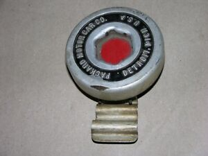 Antique Packard Motor Co Center Cap for Hubcap Spindle with Bracket Detroit Mich