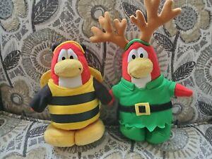 Club Penguin Plush lot Reindeer & Bumble Bee