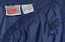 Vintage Navy Blue Nike Windbreaker Basketball Warm Up Nylon Track Pants Large L