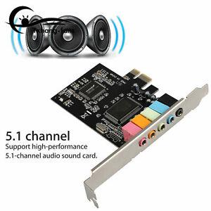 PCI-E PCI Express 6 Channel 5.1 CMI8738 Audio Sound Card PC windows7/8 A2TF
