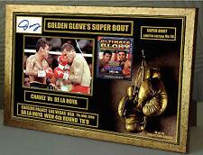 De la Hoya Chávez Guantes de Oro Edición Limitada Serie Firmado