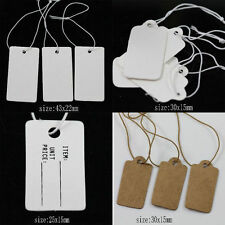 White Kraft Paper Gift Tags Price Wedding Scallop Label Blank Luggage 30X15MM