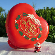 Mini Polly Pocket Merry Christmas Weihnachts Dose mit Weihnachtsmann