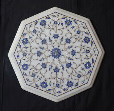Marble Coffee Table Top Lapis Pauashell Marquetry Inlay Outdoor Mosaic Decor