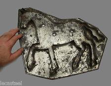 rare moule à spéculos en fer blanc figurant un cheval - gateau - patisserie