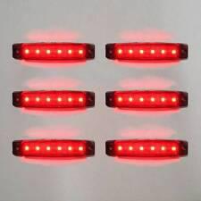 Universal 6x 24v LED ROJO TRASERO recuperación intermitente lateral FARO