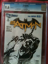 BATMAN # 3  DC NEW 52 CGC 9.6  SKETCH COVER SCOTT SNYDER