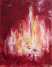 TABLEAU ABSTRAIT art contemporain, peinture de HZEN, paysage - LA NEF - 27x35 cm