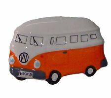 VW Kombi Van Fridge Magnet Ceramic Collectable Orange