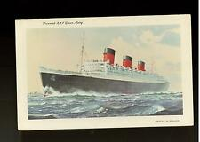 Mint Vintage Queen Mary Cruise Cruise Ship Cunard Liner Picture Postcard
