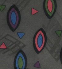 Bugatti Italy Gray Brown Abstract Silk Necktie Neck Tie