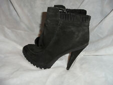 KG BY KURT GEIGER WOMEN'S BLACK SUEDE LEATHER ZIP ANKLE BOOT  SIZE UK 5 EU 38VGC