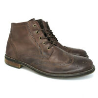 Steve Madden Mens Evander 2 Brown Leather Chukka Boots Lace Up Ankle Top Size 13
