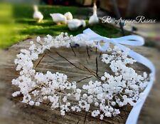 "Bridal Flower crown bridesmaids baby's breath Gypsophila 15"" holy communion Boho"