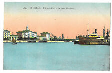 Calais, Harbour Mouth and Rail Station PPC, Unposted but with 30c Mermoz Stamp