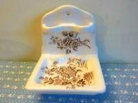 Charlotte Royal Crownford Staffordshire Porcelain Toothbrush Holder Soap Dish