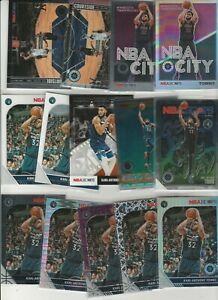 KARL-ANTHONY TOWNS 2019-20 HOOPS PREMIUM RAINBOW LOT (14) PRIZM SILVER INSERTS