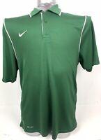 Nike Dri-Fit Polo Shirt Men's Large Green White