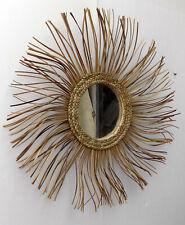 Specchio sole in vegetale naturale rattan diamentro cm 64 vetro cm 19 specchi