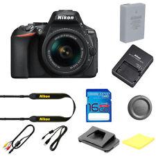 Nikon D5600 Digital SLR Camera W/18-55 24.2 MP Black with I3ePro SD Card