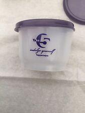 Tupperware Take 5 Snack Cups : Set of 3 : 4 oz ea : New : Purple Lids : Indulge