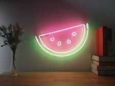 New Watermelon Fresh Fruit Neon Sign For Bedroom Wall Decor Artwork With Dimmer