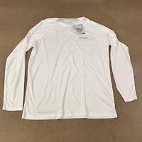 Baleaf Men's Size Large White Long Sleeve UPF 50+ Athletic T-Shirt NWT