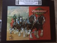 Budweiser Clydesdale Metal Sign
