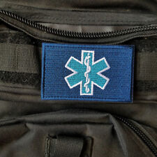 EMT Medic Paramedic Tactical Military Army Morale Hook Patch Badge Blue White